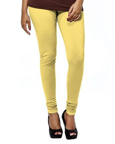 Go Colors Women's Bright Yellow Churidars