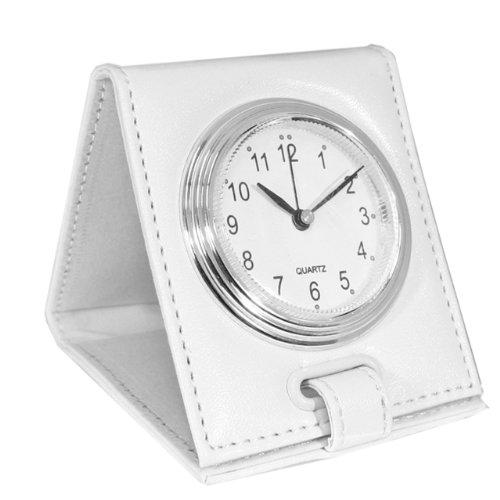 Natico Originals Desk, Office or Travel Folding Alarm Clock, White (10-1223W)