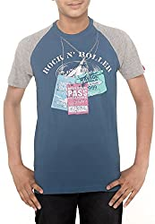 Menthol Boys Round Neck Tshirt (11-12 Years, Airforce (Blue))