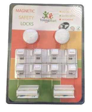 Young-Start-Magnetic-invisible-Baby-and-Child-proof-Safety-Locks-for-Cabinets-and-Drawers-8-Locks-and-2-Keys-Easy-to-fit-No-ToolsNails-or-Screws-required