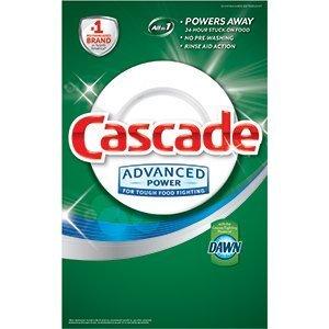 Cascade Advanced Power Dishwasher Powder with Dawn 155 Oz (4.39 Kg) 9.68 LB Detergent Grease Fighting Power Fresh Scent (Cascade Dishwashing Powder compare prices)