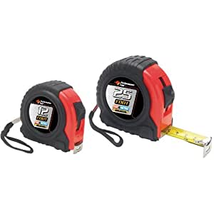 Wilmar (WLMW5124BP) 2 Pc. Fractional & Metric Measure Tape Measure Combo