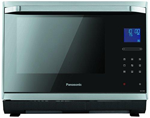 Panasonic NN-CS894SEPG Mikrowelle / 1000 Watt / 32 Liter Garraum / Dampfgarer, Inverter, Grill und Ofen in einem Produkt / Edelstahl / schwarz