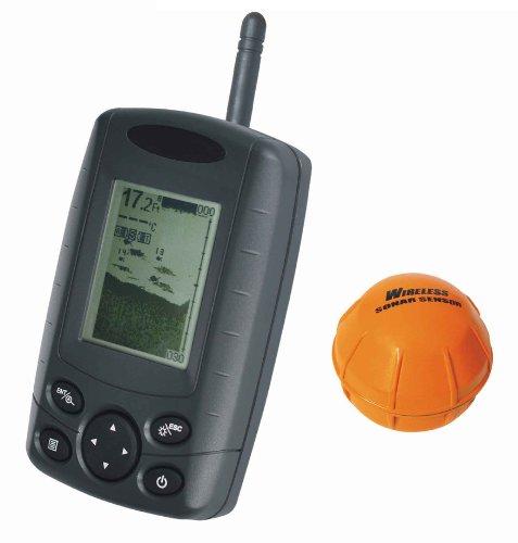 Signstek FF-002 Wireless Portable Handheld Fish Finder FishFinder With Round Sonar Sensor (Transducer) White LED Backlight