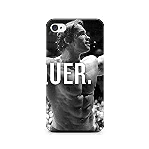 Motivatebox-Apple Iphone 4/4s cover-Conquer Arnold Polycarbonate 3D Hard case protective back cover. Premium Quality designer Printed 3D Matte finish hard case back cover.