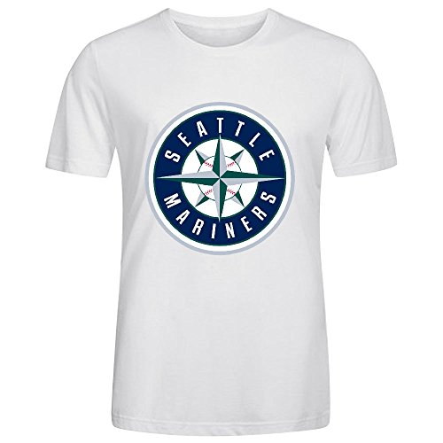Seattle Mariners Crew Neck MLB Team Men T Shirts Graphic White