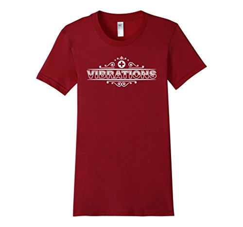 Women's Vibrations With Positive Symbol Graphic T-Shirt XL Cranberry