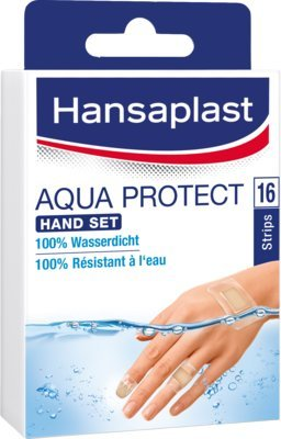 HANSAPLAST Aqua Protect Pflaster Hand Set 16 St Pflaster