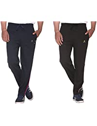 CUPID 2 Striped Stylish Track Pants / Cotton Lowers / Sports Trousers / Night Pant / Joggers Combo Offer Pack... - B06X9T1V2B