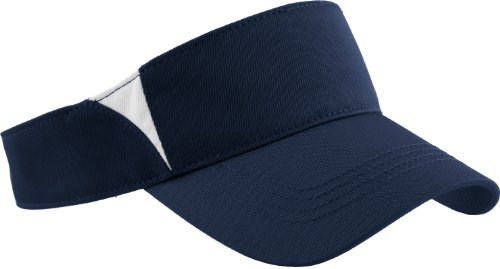 Sport-Tek - Dry Zone Colorblock Visor. Stc13 - True Navy / White