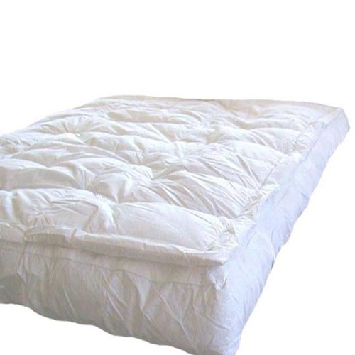 Discover Bargain MARRIKAS Pillow Top Goose Down Feather Bed Featherbed CALIFORNIA KING