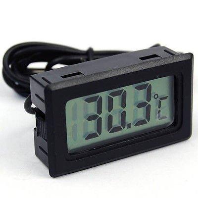 MCP Mini LCD digital thermometer sensor wired for Room temperaure Indoor Fish tank Aquarium Fridge Freezer with Batteries