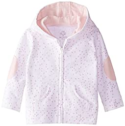 aden + anais Baby-Girls Newborn Jersey Hoodie, Lovely Mini Hearts, 3-6 Months