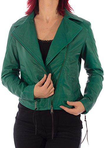 Diesel da donna giacca in pelle L Sienna C verde verde M