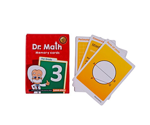 Dr Math (Grade 3) - Memory Flash Cards for Grade 3 Kids for Concepts, Clarity and Recall