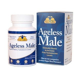 New Vitality Ageless Male Testosterone Booster Softgels, 60 Counts