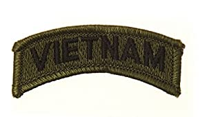 Ecusson / Patch Vietnam Vert Et Noir Thermo Collant Airsoft Kza-e723/442302701