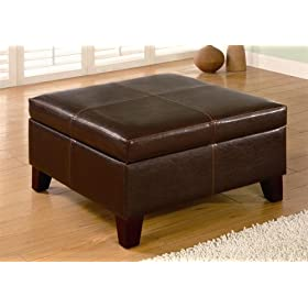 Bench/storage Ottoman Brown Finish