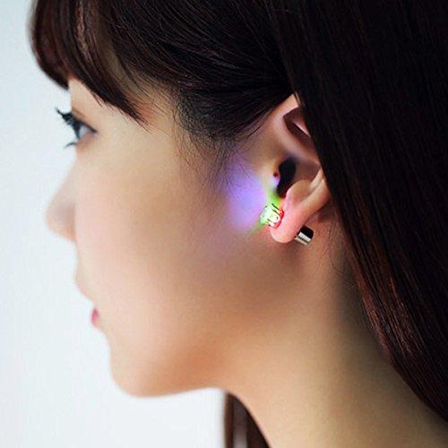 MassMall® New Fashion Light Glowing LED Earrings Ear Drop Crystal Pendant Light up Earrings/Studs Multicolor Bright Stylish Fashion Earrings (Colorful)