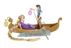 Disney Princesses - T7561 - Accesoire - Poupée et Mini Poupée -  Bateau Promenade Raiponce Flyn