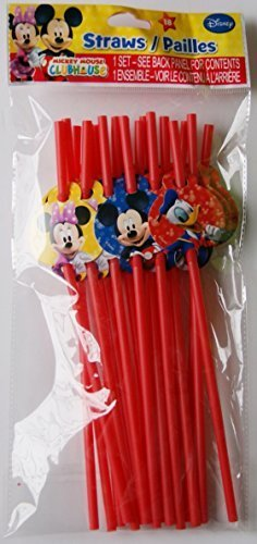 Disney Disney Jr. Mickey Mouse Clubhouse Party Favor Straws 18/pk