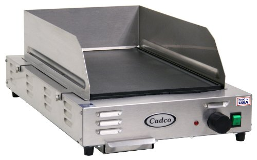 Get Cadco Cg-5Fb Space Saving Countertop 120-Volt Electric Griddle lowestprice