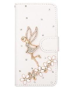 Unendlich U Schmuck 3D glänzen Strass Handy Ledertasche Schutz Hülle Brieftasche mit Ständer Halter Kreditkarte Karte für iPhone 6 4,7 Zoll