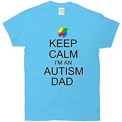 Keep Calm I'm An Autism Dad Puzzle Piece T-Shirt