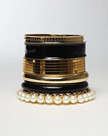 bebe Chic Mixed Bangle Set from bebe.com