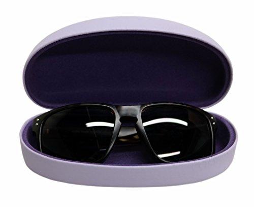 Best Fashion Sunglasses / Eyeglasses Case | 100% Money Back Guarantee | Jellybean Purple | Medium Large | For Men & Women | Metal | Hard | Clam-Shell |