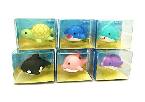 Rittle Sea Animals, Cute Floating Light-up Bath Toys (Set of 6) (Floating Bath Tub compare prices)