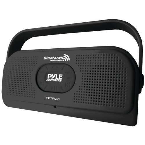 Brand New Pyle Surf Sound Waterproof Bluetooth Stereo Speaker (Black)