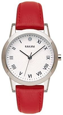 buy Rakani Running Behind 32Mm Lotus Watch With Red Leather Band