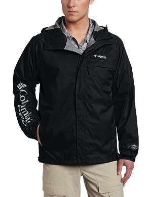 Columbia Men's HydroTech Packable Rain Jacket, Large, Black