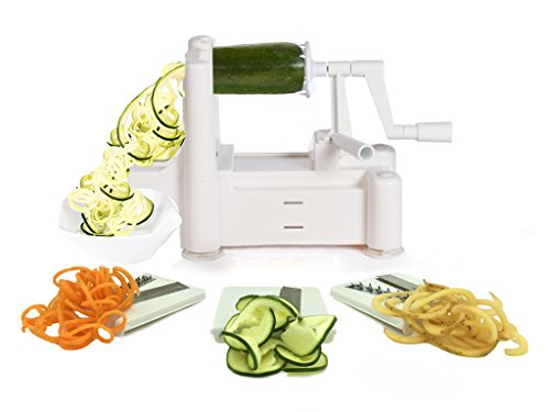 Spiralizer Tri-Blade Vegetable Spiral Slicer, Strongest-Heaviest,