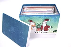 Paper Magic 24-ct Handmade Christmas Cards In Decorative, Reusable Box With Removable Lid