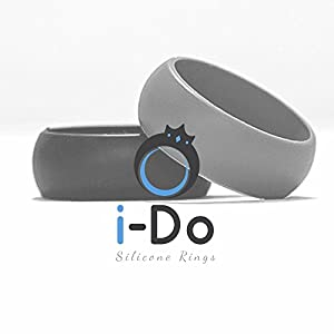 i-Do Rings Mens Silicone Wedding Ring,Perfect for Active Lifestyles, Safety at Work,Gym,Crossfit,Sports,Unique Mens Gift for Christmas,Anniversary,Birthdays. from i Do Rings