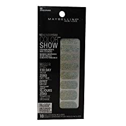Maybelline Limited Edition Color Show Fashion Prints Mirror Effect Nail Stickers - 50 Silver Sparks