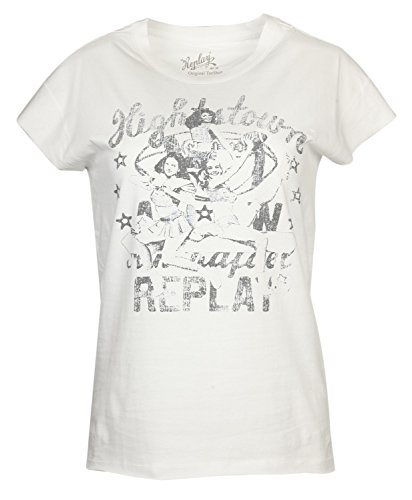 Replay Damen T-Shirts Weiss W3281A-001, size:S