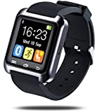 Estone Bluetooth Smart Watch Smartwatches U Watch Wristwatch for Android Phones and iPhone Black