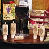 DecoGlow Wine Country Collection 6-Piece Set 3-Inches Wine Cork Candles with Merlot Scent