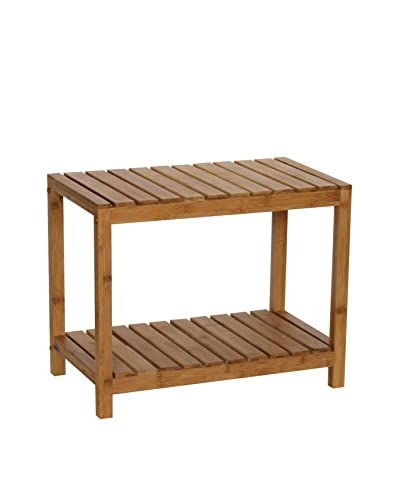 Gallerie Décor Bamboo Natural Spa Bench, Natural