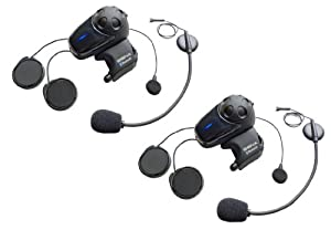 Sena SMH10D-11 Motorcycle Bluetooth Headset/Intercom with Universal Microphone Kit (Pack of 2) by Sena