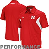 Nebraska Cornhuskers Adidas 2011 Sideline Adizero Red Performance Polo Shirt