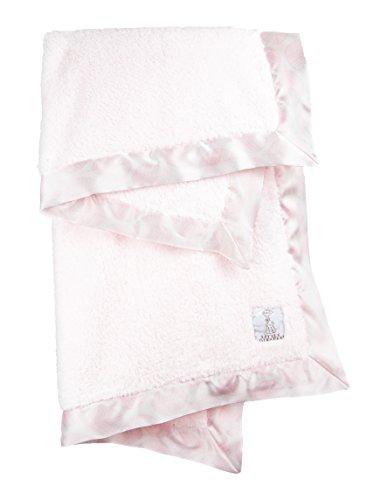 Little Giraffe Chenille Leaf Baby Blanket, Pink