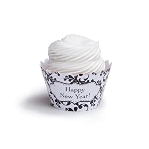 Dress My Cupcake Happy New Year Cupcake Wrappers, Set of 12