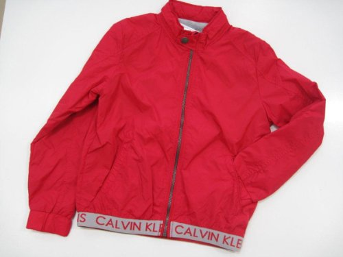 Calvin Klein Jeans Boys Vibrant Red Jacket