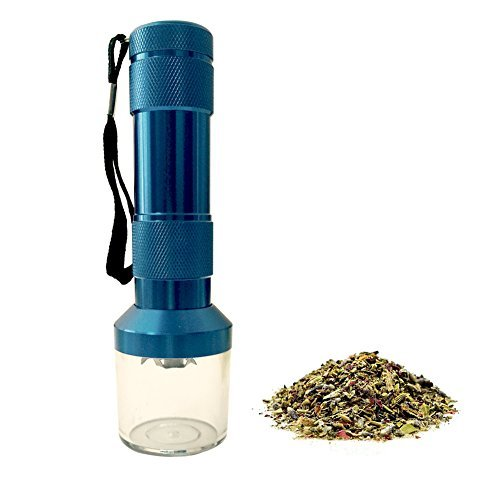 LGtrade® Electronic Herb Grinder with Pollen Catcher for Tobacco Weed Crusher Cracker, Blue, Zinc Alloy (Dry Vaporizer For Smoking compare prices)