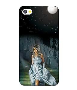 Crazymonk Premium Digital Printed 3D Back Cover For Apple I Phone 5S