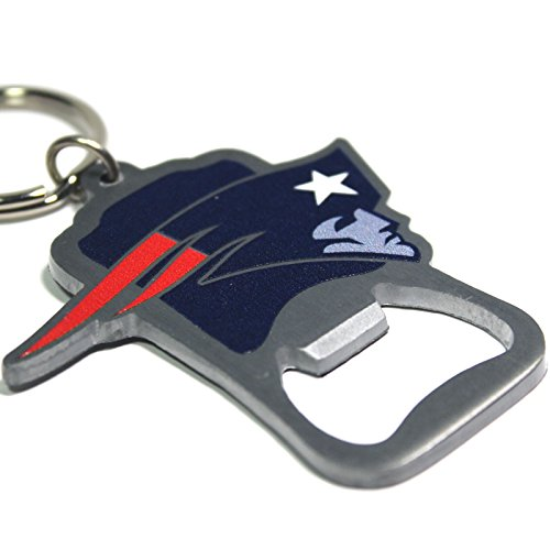 NFL New England Patriots - Bottle Opener Key Chain - Unboxed - (Bottle Opener Keychain Bear compare prices)